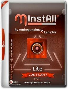 MInstAll by Andreyonohov & Leha342 Lite v.26.11.2017 (x86-x64) (2017) [Rus]
