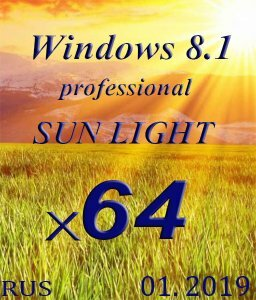 Windows 8.1 Professional SUN LIGHT by novik (mini+Portable) (x64) (01.2019) [Rus]