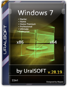 Windows 7 11in1 Update by UralSOFT v.28.19 (x86-x64) (2019) [Rus]